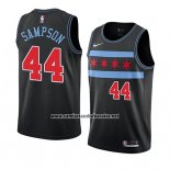 Camiseta Chicago Bulls Brandon Sampson #44 Ciudad 2018-19 Negro