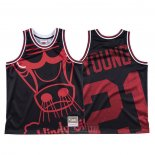 Camiseta Chicago Bulls Thaddeus Young #21 Mitchell & Ness Big Face Negro