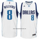 Camiseta Dallas Mavericks Deron Williams #8 Blanco