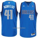 Camiseta Dallas Mavericks Dirk Nowitzki #41 Azul