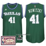 Camiseta Dallas Mavericks Dirk Nowitzki #41 Retro Verde