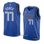 Camiseta Dallas Mavericks Luka Doncic #77 Icon 2017-18 Azul