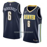 Camiseta Denver Nuggets Jarred Vanderbilt #6 Icon 2018 Azul