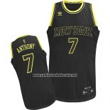 Camiseta Electricidad Moda New York Knicks Carmelo Anthony #7 Negro