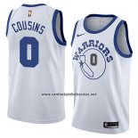 Camiseta Golden State Warriors Demarcus Cousins #0 Hardwood Classic 2018-19 Blanco