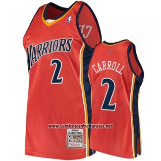 Camiseta Golden State Warriors Joe Barry Carroll 2009-10 Hardwood Classics Naranja