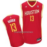 Camiseta Houston Rockets James Harden #13 Rojo Amarillo