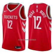 Camiseta Houston Rockets Luc Mbah A Moute #12 2017-18 Rojo