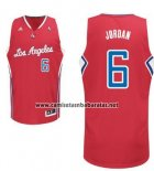 Camiseta Los Angeles Clippers DeAndre Jordan #6 Rojo