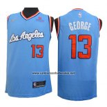 Camiseta Los Angeles Clippers Paul George #13 2019-20 Azul