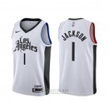 Camiseta Los Angeles Clippers Reggie Jackson #1 Ciudad Blanco