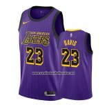 Camiseta Los Angeles Lakers Anthony Davis #23 Ciudad 2019-20 Violeta