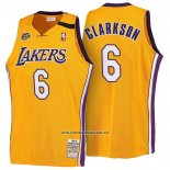 Camiseta Los Angeles Lakers Clarkson #6 Retro 1999-00 Amarillo