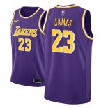 Camiseta Los Angeles Lakers Lebron James Nike Statement #23 2018-19 Violeta