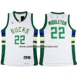 Camiseta Milwaukee Bucks Khris Middleton #22 Blanco