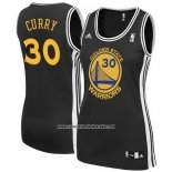 Camiseta Mujer Golden State Warriors Stephen Curry #30 Negro