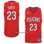 Camiseta New Orleans Pelicans Anthony Davis #23 Rojo