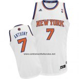 Camiseta New York Knicks Carmelo Anthony #7 Blanco