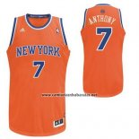 Camiseta New York Knicks Carmelo Anthony #7 Naranja