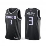 Camiseta Sacramento Kings Yogi Ferrell #3 Statement Negro