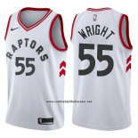 Camiseta Toronto Raptors Delon Wright #55 Association 2017-18 Blanco