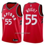 Camiseta Toronto Raptors Delon Wright #55 Icon 2017-18 Rojo