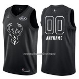 Camiseta All Star 2018 Milwaukee Bucks Nike Personalizada Negro