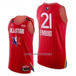 Camiseta All Star 2020 Eastern Conference Joel Embiid #21 Rojo