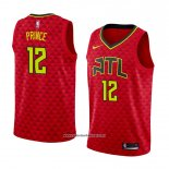 Camiseta Atlanta Hawks Taurean Prince #12 Statement 2017-18 Rojo