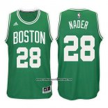 Camiseta Boston Celtics Abdel Nader #28 Road Kelly 2017-18 Verde