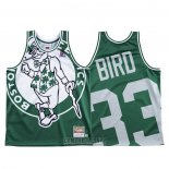 Camiseta Boston Celtics Larry Bird #33 Mitchell & Ness Big Face Verde