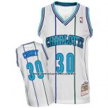 Camiseta Charlotte Hornets Dell Curry #30 Retro Blanco