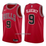 Camiseta Chicago Bulls Antonio Blakeney #9 Icon 2017-18 Rojo