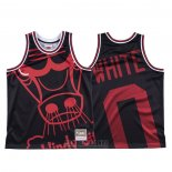 Camiseta Chicago Bulls Coby White #0 Mitchell & Ness Big Face Negro