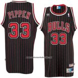 Camiseta Chicago Bulls Scottie Pippen #33 Retro Negro