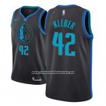 Camiseta Dallas Mavericks Maxi Kleber #42 Ciudad 2018-19 Azul