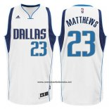 Camiseta Dallas Mavericks Wesley Matthews #23 Blanco