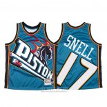 Camiseta Detroit Pistons Tony Snell #17 Mitchell & Ness Big Face Azul