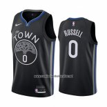 Camiseta Golden State Warriors D'angelo Russell #0 Ciudad Negro