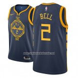 Camiseta Golden State Warriors Jordan Bell #2 Ciudad 2018-19 Azul