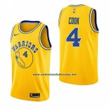 Camiseta Golden State Warriors Quinn Cook #4 Hardwood Classic 2018-19 Amarillo
