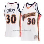 Camiseta Golden State Warriors Stephen Curry #30 Mitchell & Ness 2009-10 Blanco