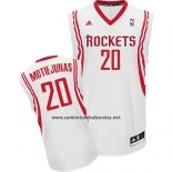 Camiseta Houston Rockets Donatas Motiejunas #20 Blanco