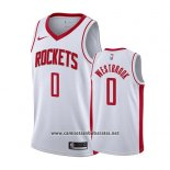 Camiseta Houston Rockets Russell Westbrook #0 Association 2019-20 Blanco