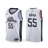 Camiseta Los Angeles Clippers Joakim Noah #55 Ciudad Blanco