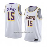 Camiseta Los Angeles Lakers Demarcus Cousins #15 Association 2019-20 Blanco