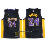 Camiseta Los Angeles Lakers Kobe Bryant #24 2017-18 Negro