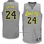 Camiseta Los Angeles Lakers Kobe Bryant #24 Gris