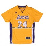 Camiseta Manga Corta Los Angeles Lakers Kobe Bryant #24 Amarillo