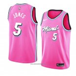 Camiseta Miami Heat Derrick Jones #5 Earned 2018-19 Rosa